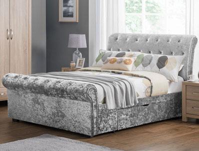 Julian Bowen Vermont Sleigh Storage Bed Frame