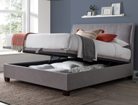 Kaydian Accent Marbella Grey Fabric Ottoman Bed Frame