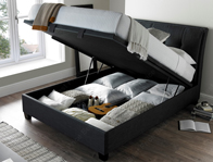 Kaydian Accent Slate Fabric Ottoman Bed Frame