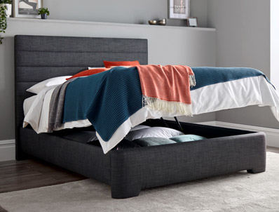 Kaydian Appleby Slate Ottoman Bed Frame