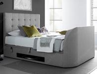 Kaydian Barndor Light Grey Fabric TV Ottoman Bed Frame