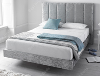 Kaydian Clarice Silver Crushed Velvet Bed Frame
