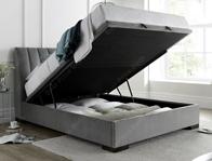 Kaydian Lanchester Grey Plume Velvet Ottoman Bed Frame