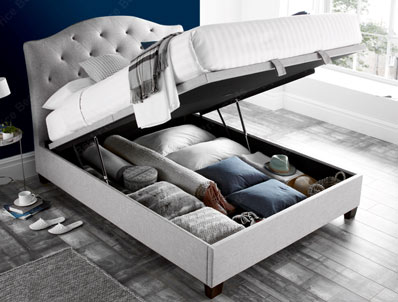 Kaydian Lindisfarne Ottoman Bed Frame in Marbella Stone