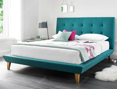 Kaydian marietta fabric bed frame buy online at for Beds 185cm long