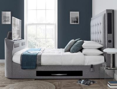 Kaydian Titan 2 Fabric Tv Bed frame with Soundbar