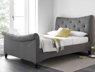 Kaydian Tyne Fabric Bed Frame in Elephant Grey
