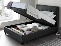 Kaydian Walkworth Slate Fabric  Ottoman Bed Frame