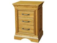 Kensington French Oak 2 Drawer Bedside Cabinets