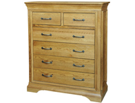 Kensington French Oak 2 Over 4 Drawer Chest