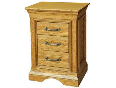 Kensington French Oak 3 Drawer Bedside Cabinets