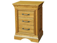 Kensington French Oak 3 Drawer Bedside Cabinets