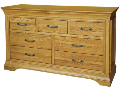 Kensington French Oak 3 Over 4 Multi Chest