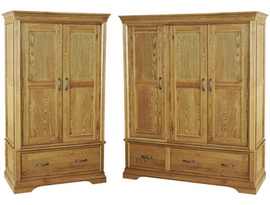 Kensington French Oak Deluxe Wardrobes