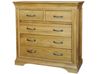 Kensington Oak 2 Over 3 Drawer Chest