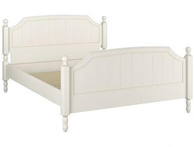 Kingstown Signature Ivory Washed Wooden Bed Frame
