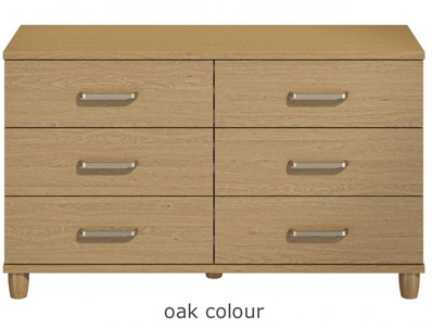 KT Deco 6 Drawer Wide Chest