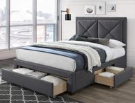 Limelight Cezanne Dark Grey Fabric Drawer Bed Frame