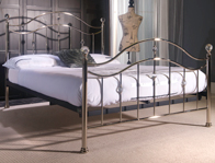 Limelight Cygnus Metal Bed Frame Brass Look