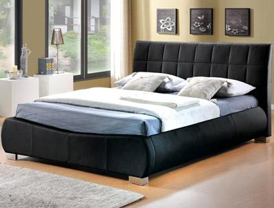 Limelight Dorado Black Faux Leather Bed Frame