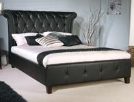 Limelight Epsilon Black faux leather Bed Frame