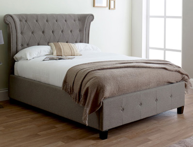 Limelight  Epsilon Grey Fabric Bed Frame