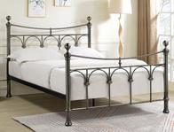 Limelight Gamma Antique Nickel  Metal Bed Frame