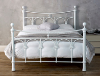Limelight Gamma White  Metal Bed Frame