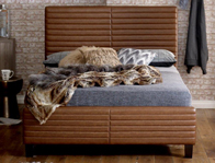 Limelight Himalia Tan Leather Look Bed Frame Super King Size Only  Discontinued