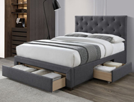 Limelight Monet Dark Grey Bed Frame
