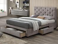 Limelight Monet Mink Fabric Bed Frame