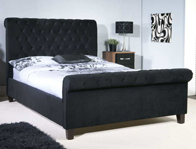 Limelight Orbit Black  Colour Fabric Bed Frame