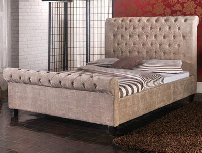 Limelight Orbit Mink Colour Fabric Bed Frame