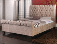 Limelight Orbit Mink Colour Fabric Bed Frame