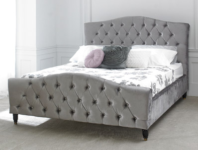 Limelight Phobos King Size Mink Fabric Bed Frame