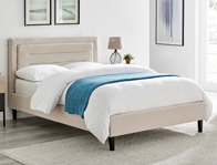 Limelight Picasso Mink Colour Fabric Bed Frame