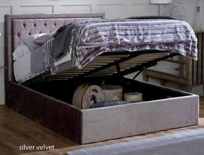 Limelight Rhea Silver Ottoman Bed Frame