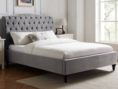 Limelight Rosa Light Grey Bed Frame