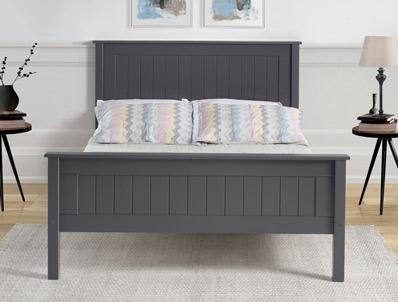 Limelight Taurus Dark Grey High Foot End Wooden Bed Frame