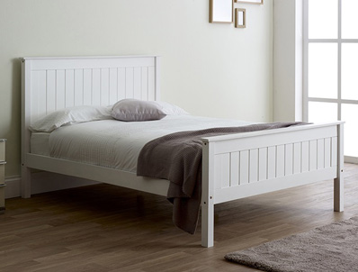 Limelight Taurus White High Footend Bed Frame