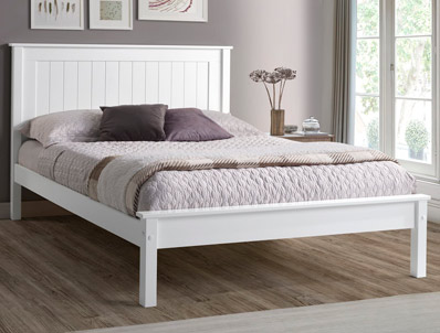 Limelight Taurus White Low Footend Bed Frame