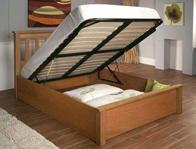 Limelight Terran Oak & Oak Veneer Ottoman Bed Frame