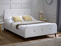 Limelight Tucana Cream Fabric Bed Frame Discontinued