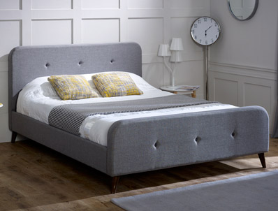 Limelight Tucana Grey Fabric Bed Frame