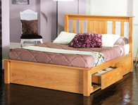 Limelight Vesta Oak Drawer Bed Frame