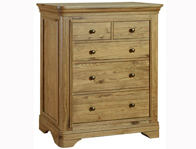 Loire French Oak 2 Over 3 Drawer Chest