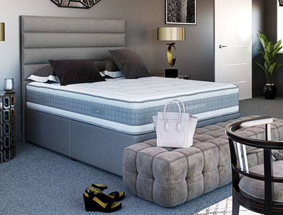 Mammoth Pocket  Deluxe 2000 Divan Bed Hard Base