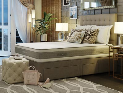 Mammoth Shine Plus 2000 Pocket Divan Bed