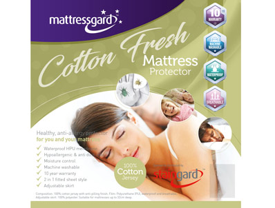 Mattressgard Cotton Fresh Waterproof Protector/Sheet