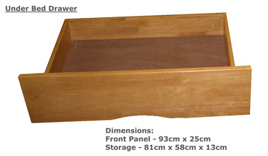 Milan Hardwood Under Bed Drawers